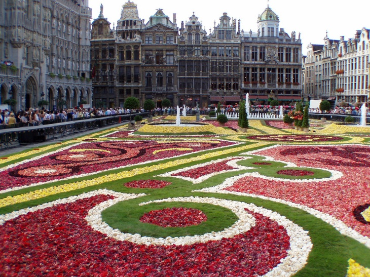 Belgium flower carpet